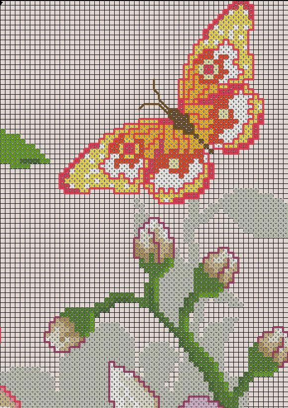 схема вышивки букет цветов