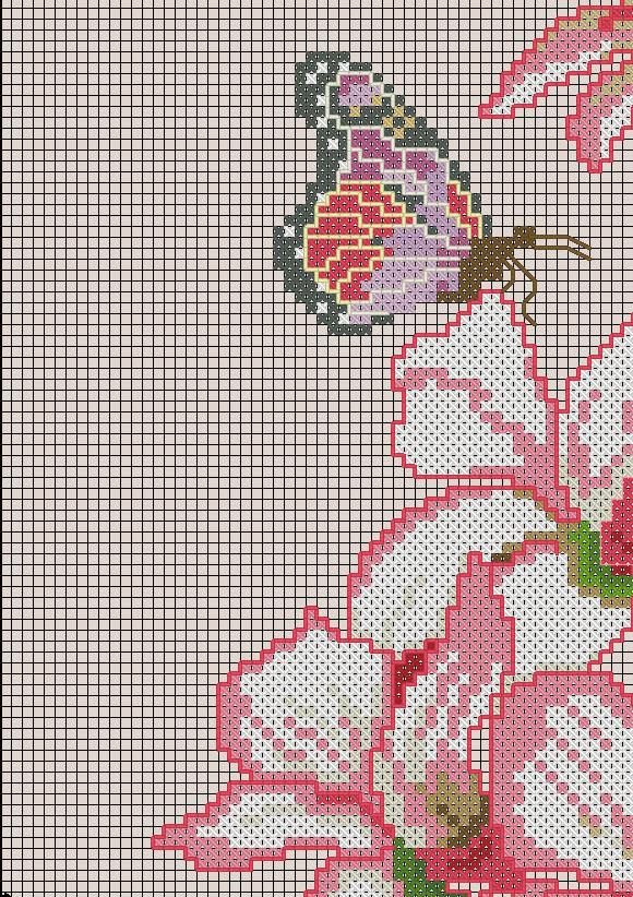 схемы вышивки вазы цветов