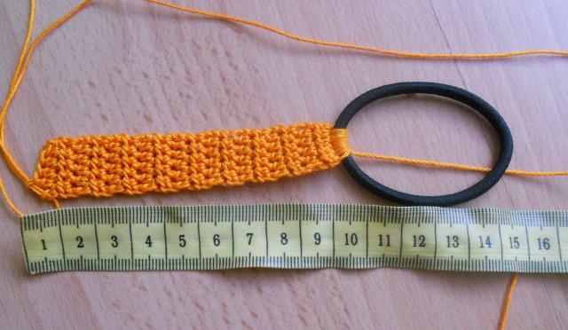 связать повязку на голову для девочки крючком