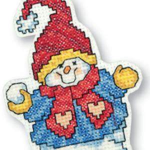 снеговик вышивка крестом схемы