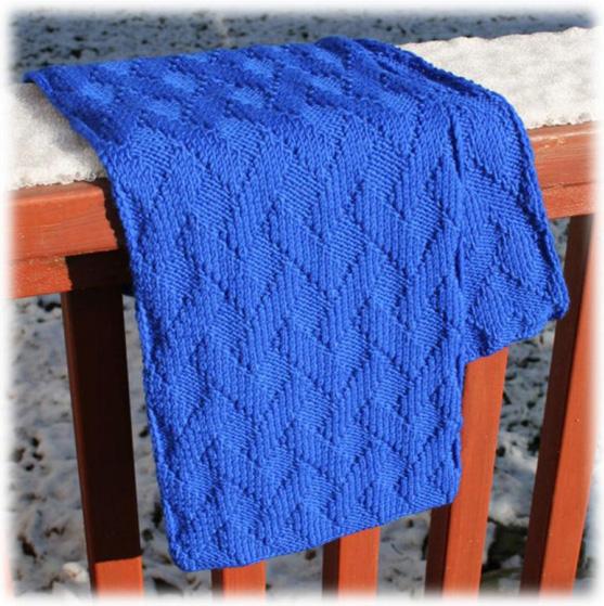 Узор для шарфа спицами схема