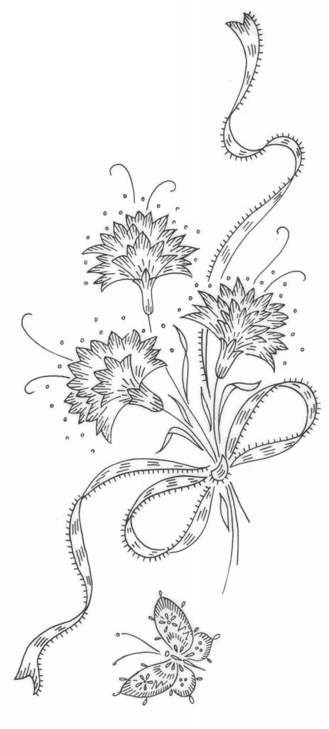 рисунки цветов для открыток