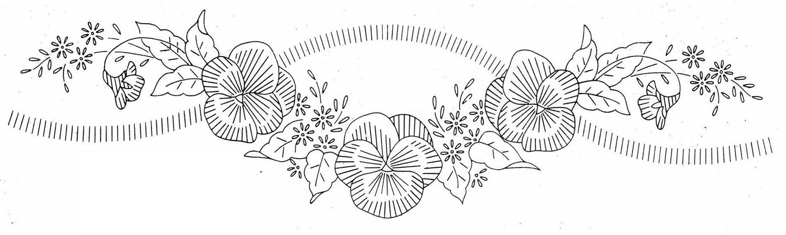 Рисунки вышивок гладью цветов 612