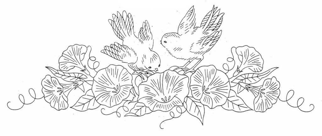 Рисунки вышивок гладью цветов 548