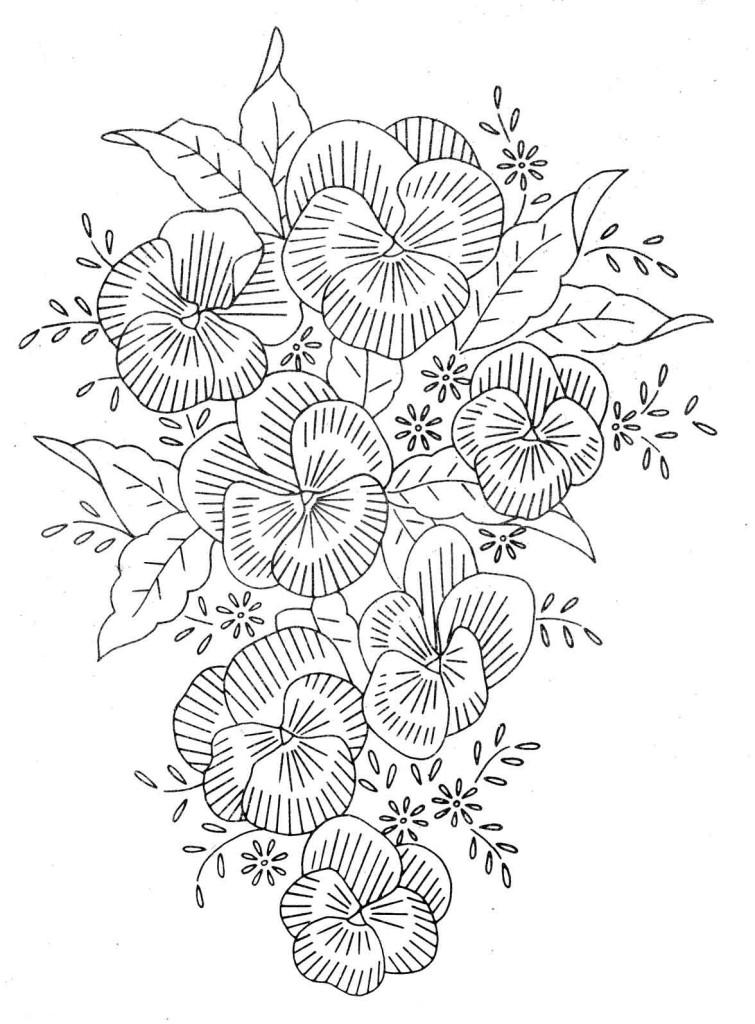 Рисунки вышивок гладью цветов 45