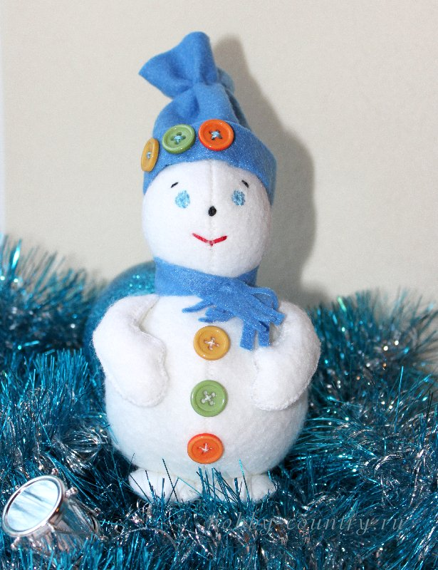 сшить снеговика своими руками выкройка