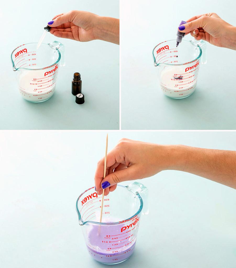 как делать цветное мыло