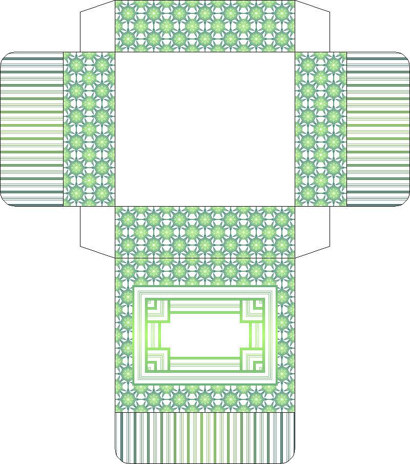 схема коробочки из бумаги с крышкой