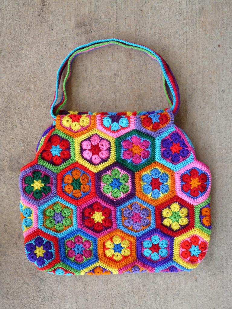 вязание мотив африканский цветок