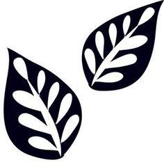 листья трафареты для вырезания