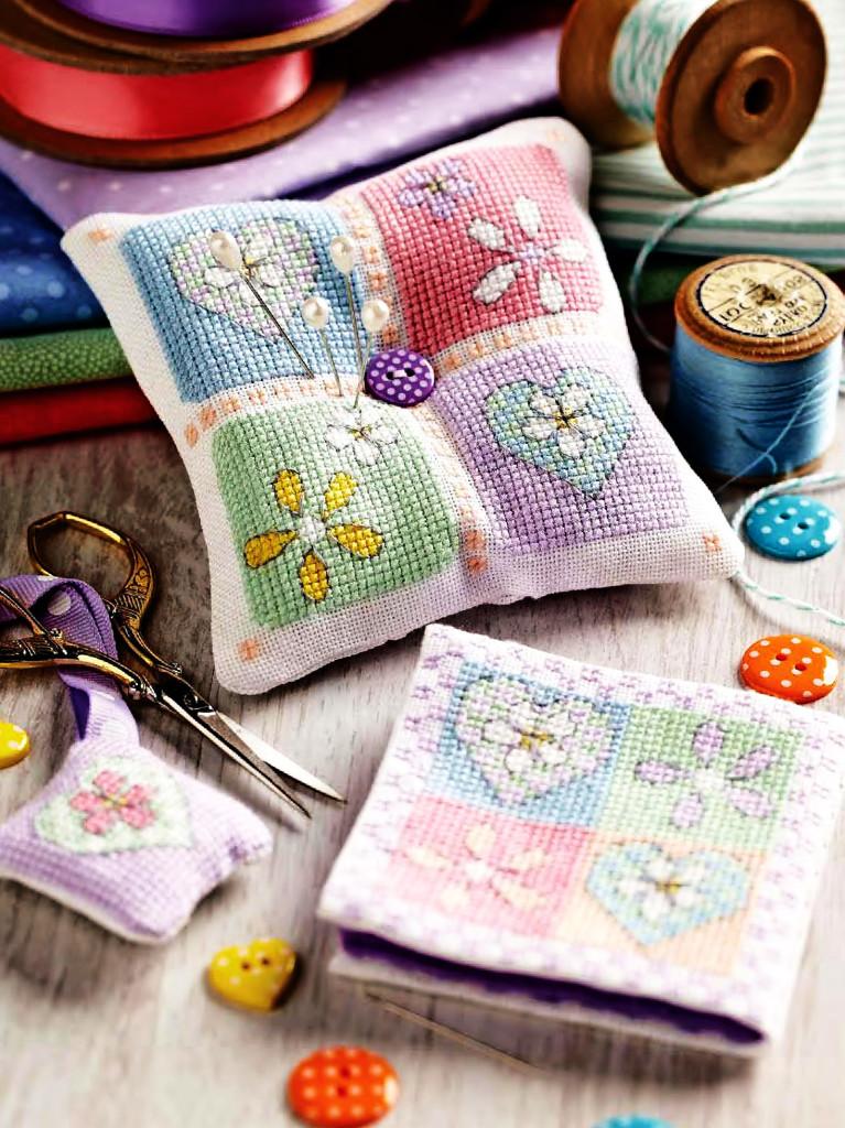 схемы вышивки крестиком для игольницы