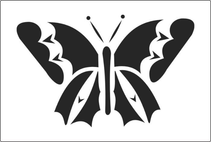 бабочки трафареты шаблоны