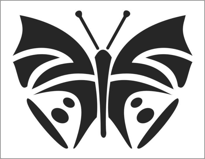 трафареты для декора шаблоны бабочки