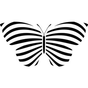 скачать трафарет бабочки для вырезания