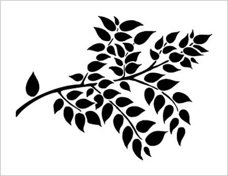 трафарет листьев для вырезания из бумаги распечатать