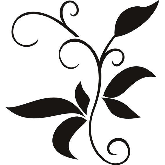 трафареты для декора листья
