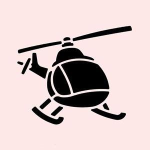 трафарет вертолета