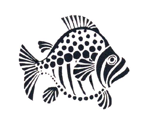 трафарет рыбы для вырезания