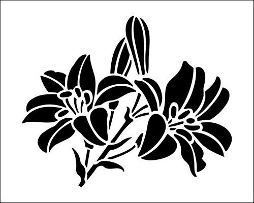 трафарет цветы распечатать