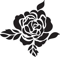 трафареты розы для вырезания