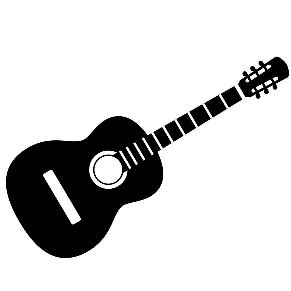 трафарет гитара