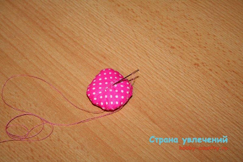 мягкий цветок из ткани мк