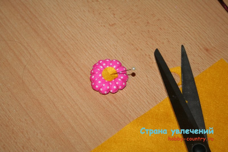 цветок из ткани для игрушки