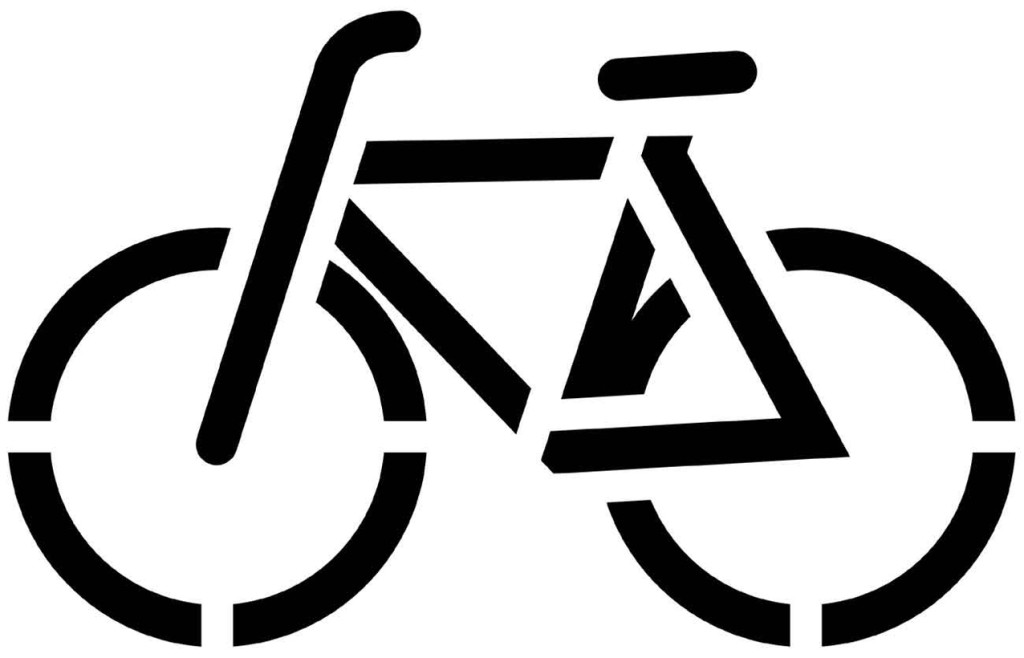шаблон для вырезания велосипед