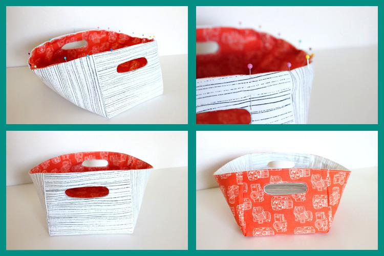 как сделать корзину из ткани своими руками