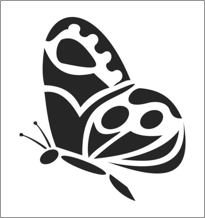 трафареты бабочек для вырезания из бумаги