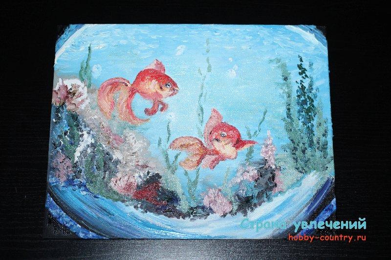 картины маслом рыбы