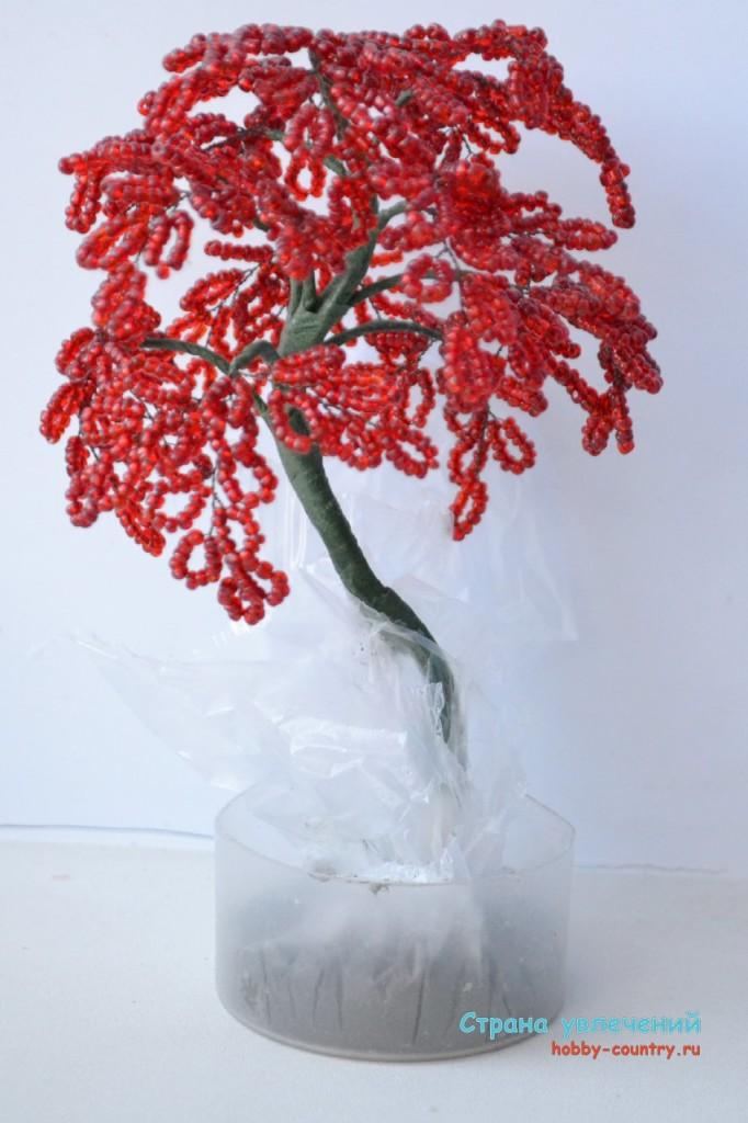 поэтапный деревья бисера