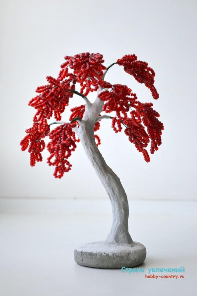 дерево из бисера пошаговое фото