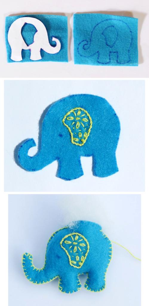 слон из фетра выкройка