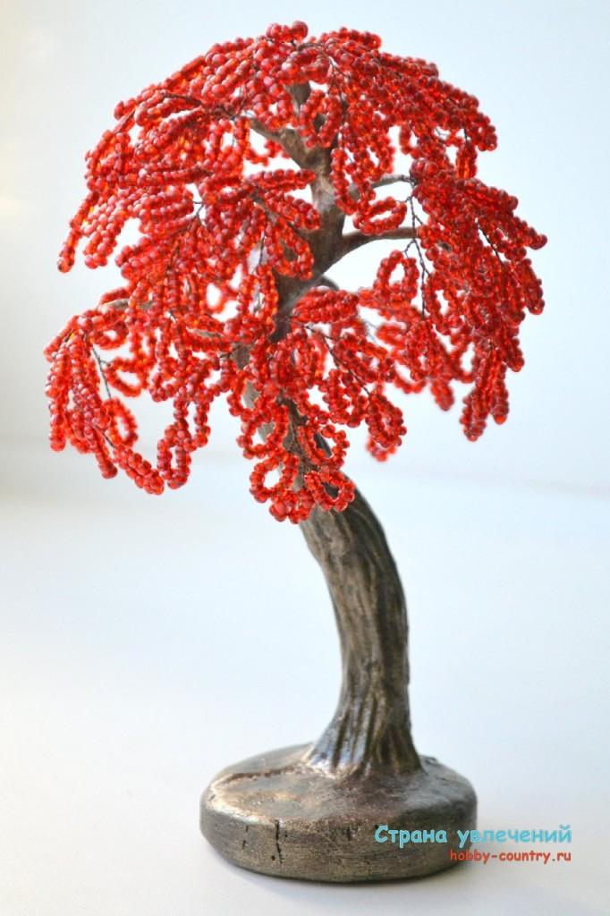 деревья из бисера мк фото