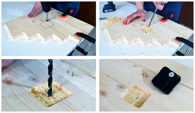 как сделать часы из дерева
