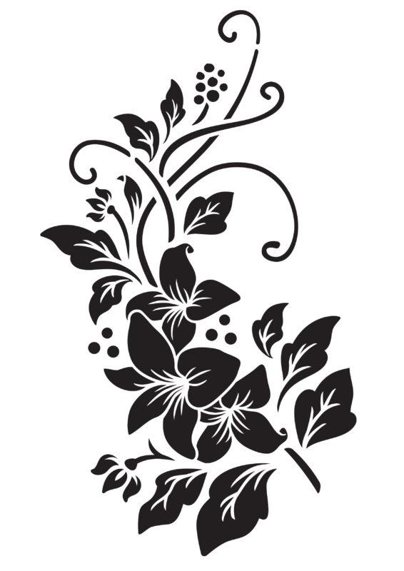 трафареты цветов для вырезания из бумаги