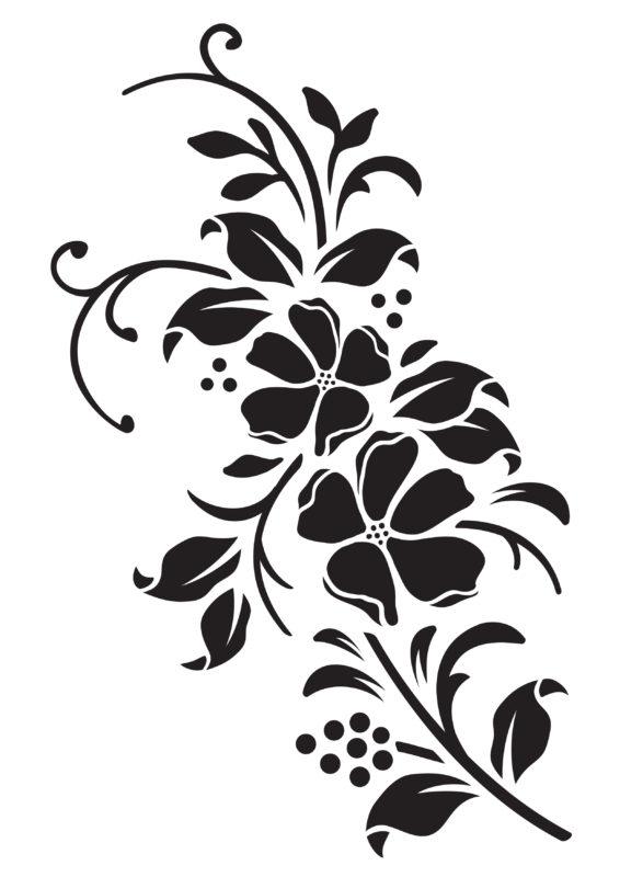 трафареты цветов для вырезания распечатать