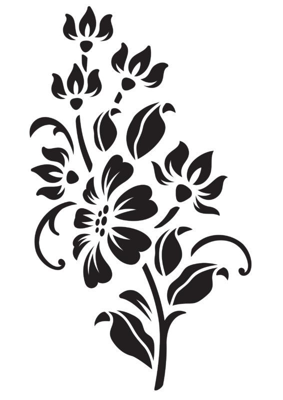 трафареты цветов для декора