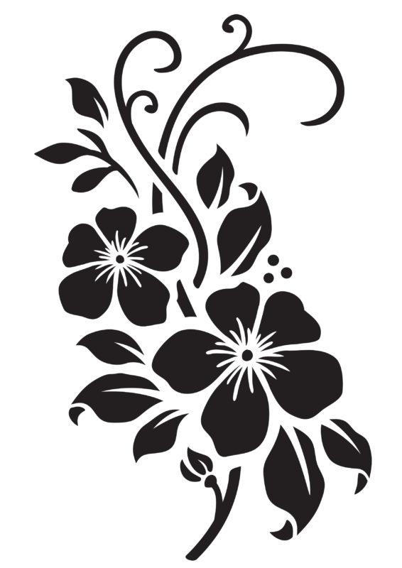 трафареты цветов а4