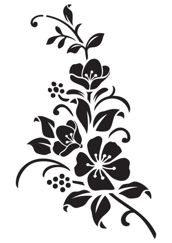 трафареты цветов под покраску