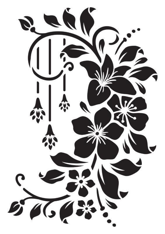 трафареты цветов формата а4