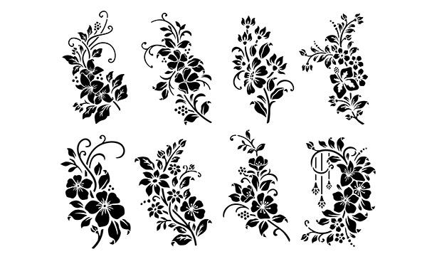 трафареты цветов для вырезания